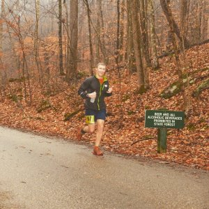 Ben running mile ~8